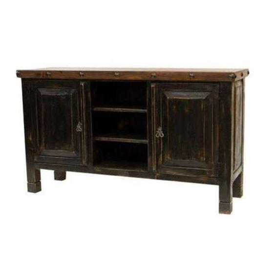 LMT Black Walnut TV Stand-LMT-Sleeping Giant