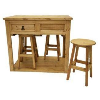 LMT Kitchen Island With Stools-LMT-Sleeping Giant