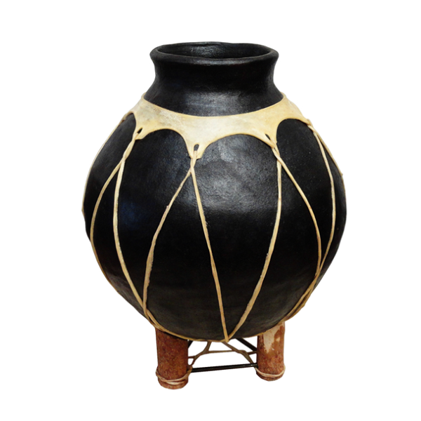 LMT Large Bola Leather Pot W/ Stand-LMT-Sleeping Giant