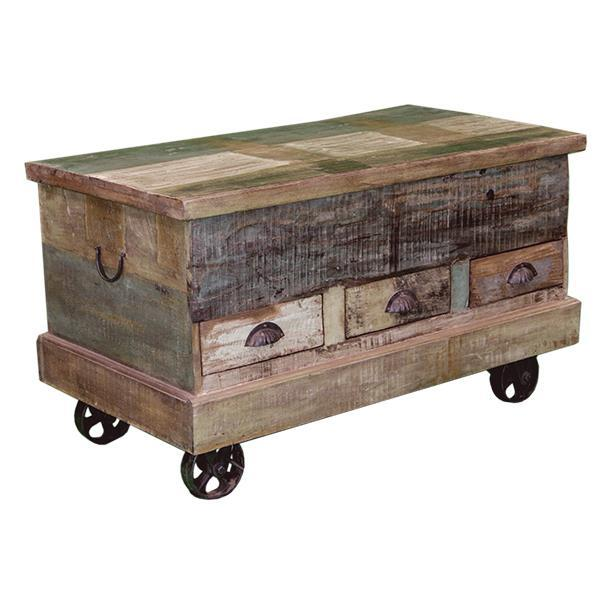 LMT Painted Trunk With Wheels-LMT-Sleeping Giant