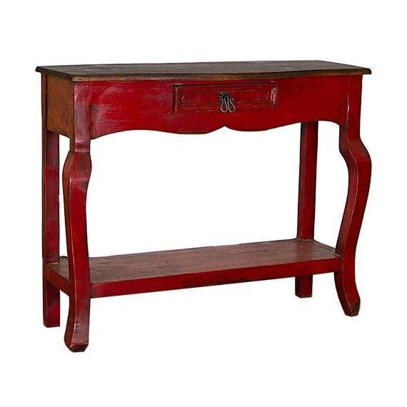 LMT Red Walnut Ale Console Table-LMT-Sleeping Giant