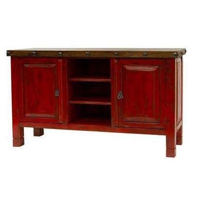 LMT Red Walnut TV Stand-LMT-Sleeping Giant