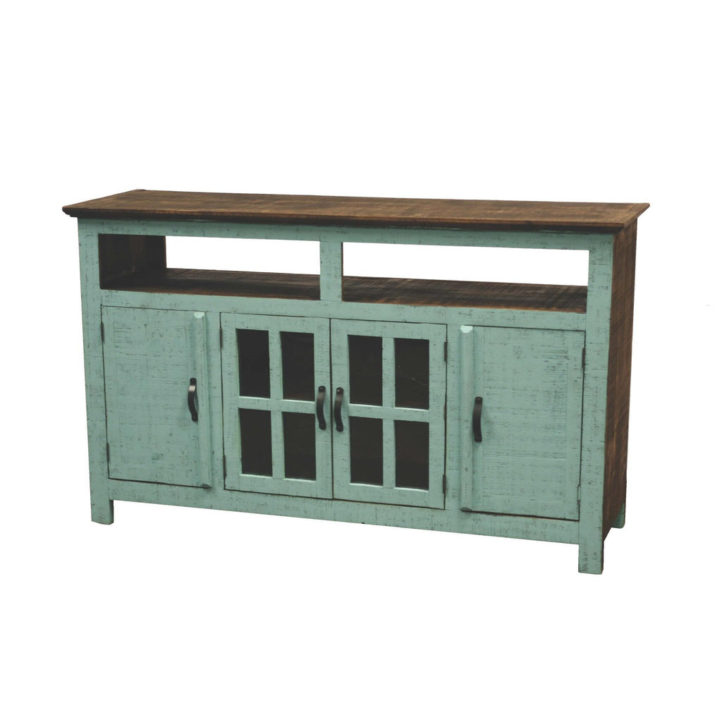 LMT Turquoise Hacienda TV Stand-LMT-Sleeping Giant