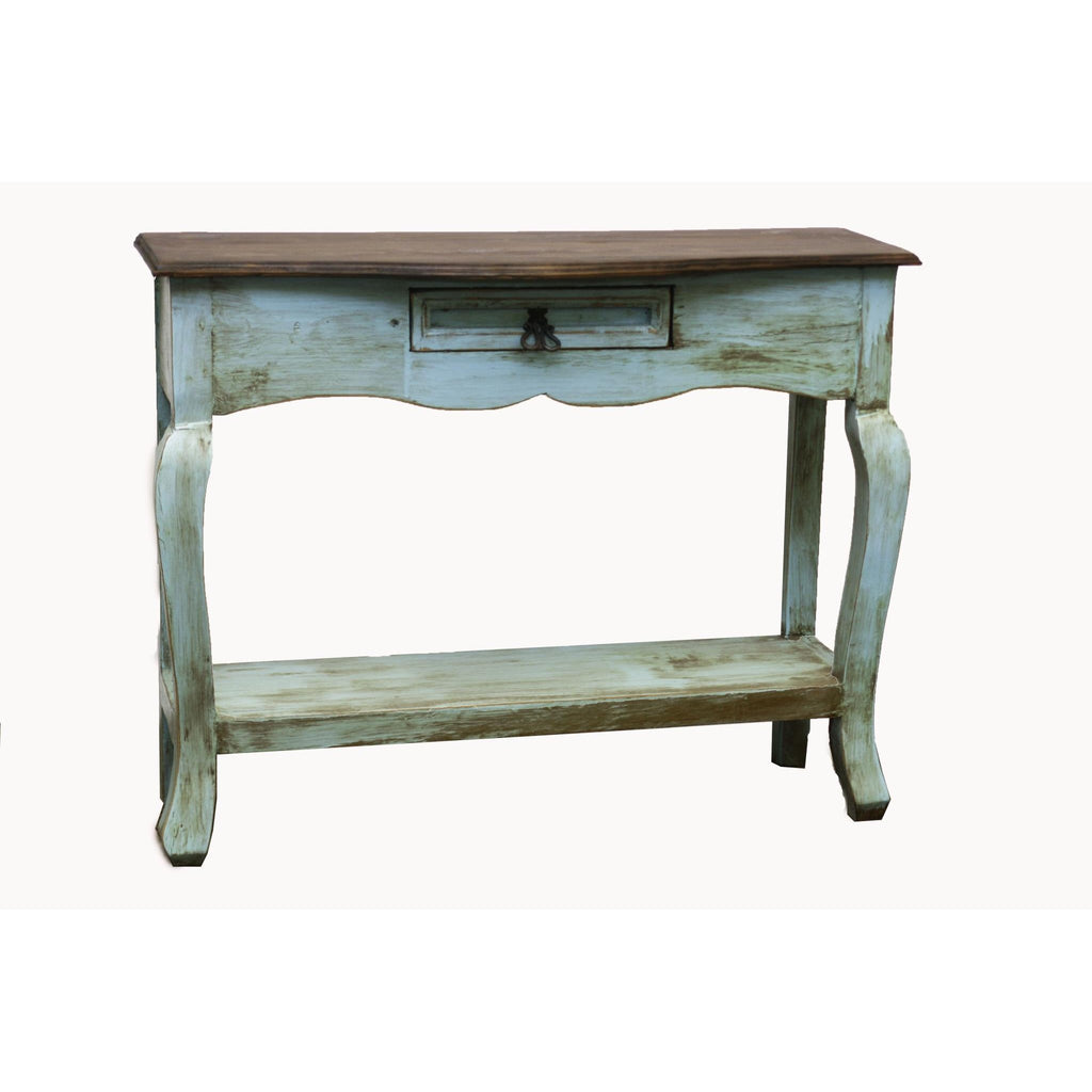 LMT Turquoise Walnut Ale Console Table-LMT-Sleeping Giant
