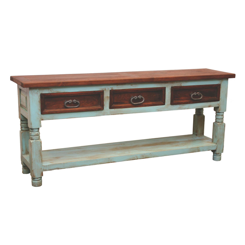 LMT Turquoise Walnut Console Table-LMT-Sleeping Giant