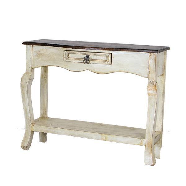 LMT White Walnut Ale Console Table-LMT-Sleeping Giant