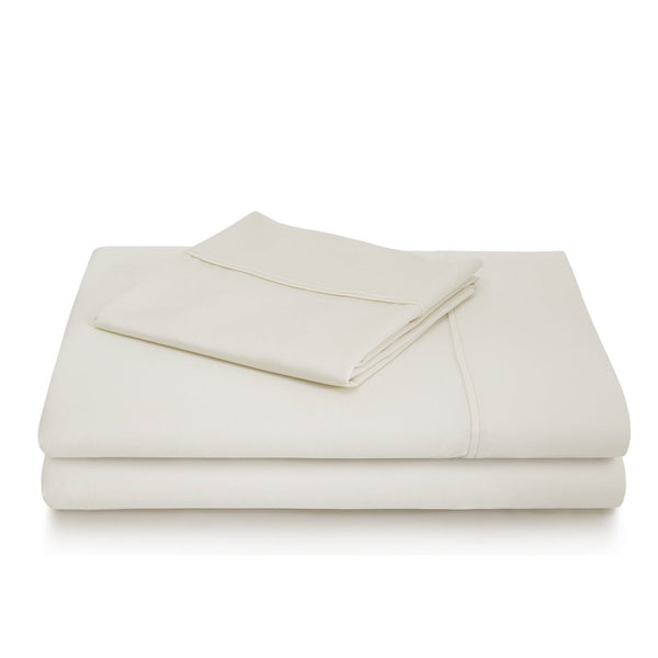 Malouf 600 TC Cotton Blend Ivory Pillowcase-Malouf-Sleeping Giant