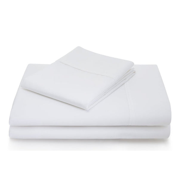 Malouf 600 TC Cotton Blend White Sheet Set-Malouf-Sleeping Giant