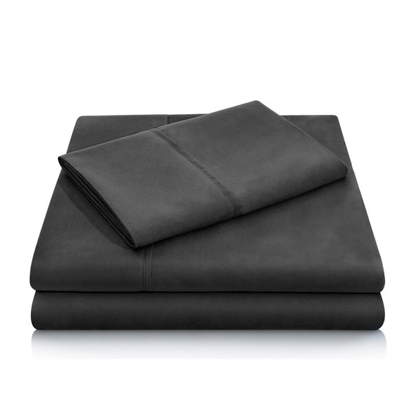 Malouf Brushed Microfiber Black Pillowcase-Malouf-Sleeping Giant