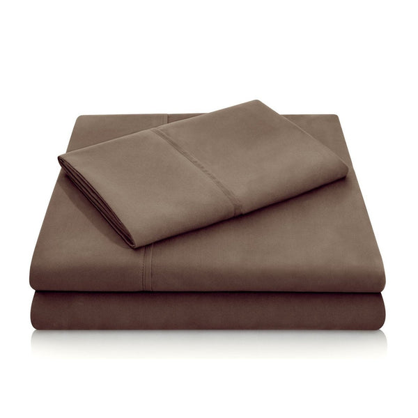 Malouf Brushed Microfiber Chocolate Pillowcase-Malouf-Sleeping Giant