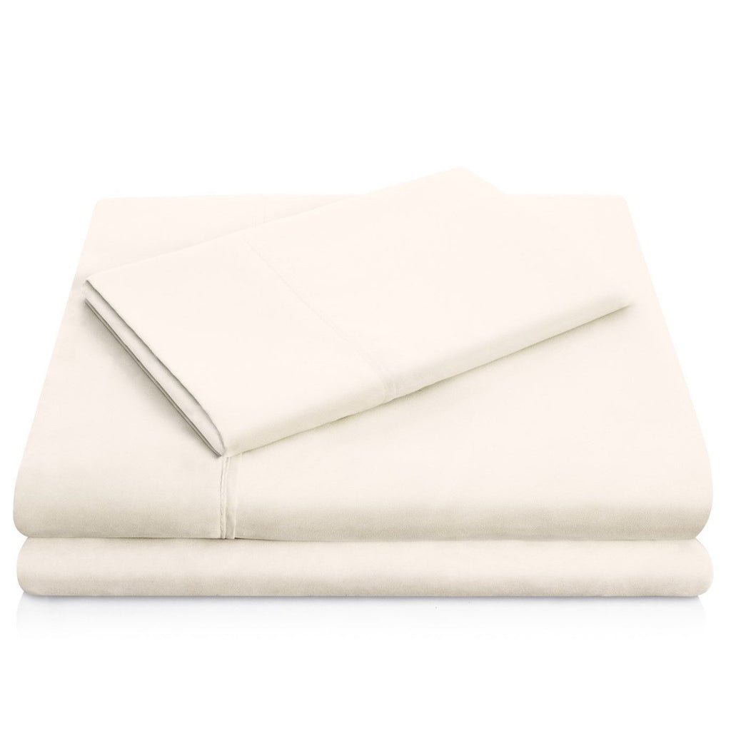 Malouf Brushed Microfiber Ivory Sheet Set-Malouf-Sleeping Giant