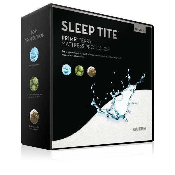 Malouf Sleep Tite Prime Terry Mattress Protector-Malouf-Sleeping Giant