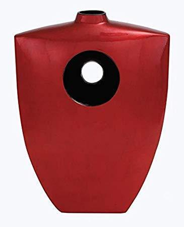 One of a Kind Red Lacquer Black and Red Vases-One of a Kind-Sleeping Giant