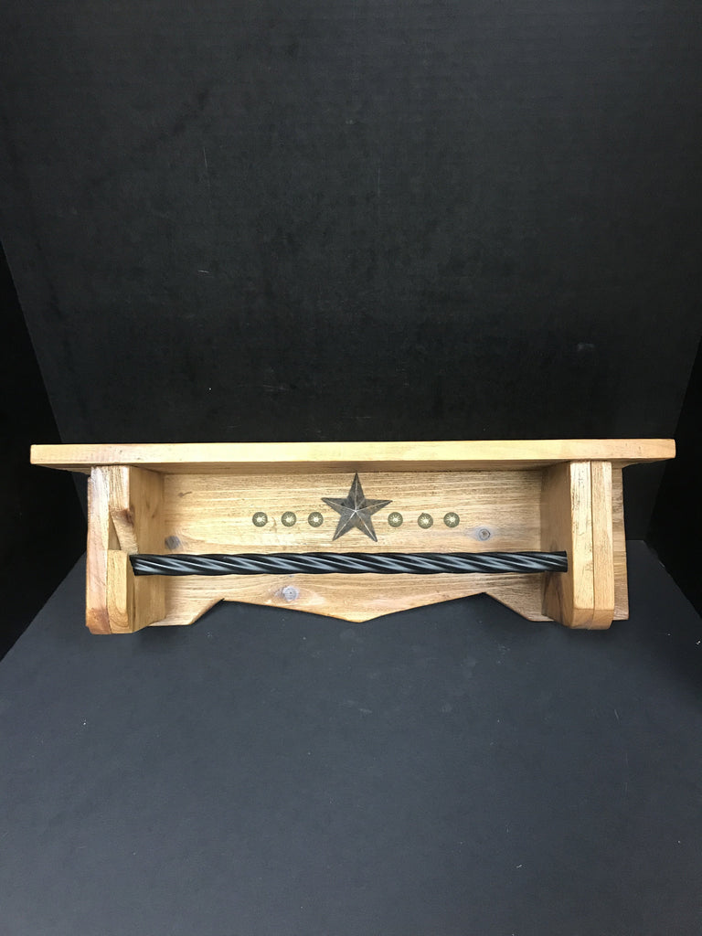 One of a Kind Texas Star Paper Towel Holder Shelf-One of a Kind-Sleeping Giant
