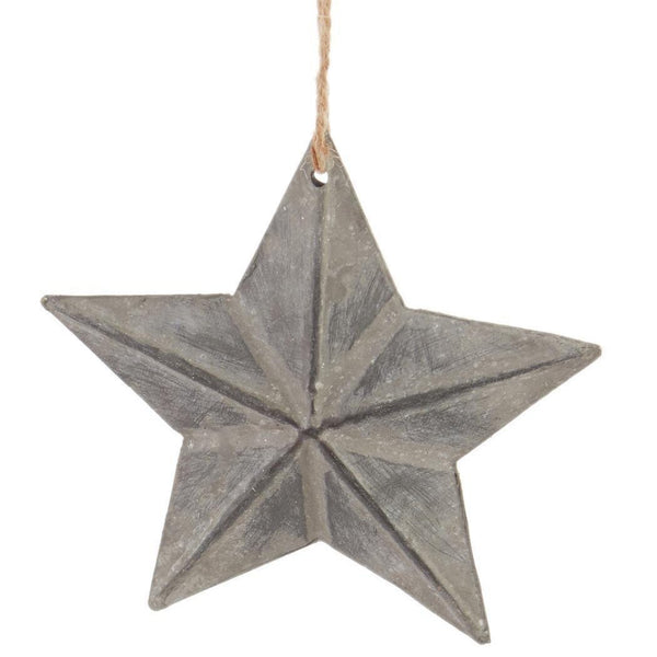 Parkhill Embossed Star Ornament Collection-Parkhill-Sleeping Giant
