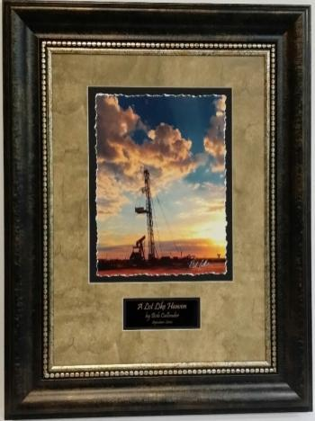 Picture King Oil Field A Lot Like Heaven Drilling Rig Framed Art-Picture King-Sleeping Giant