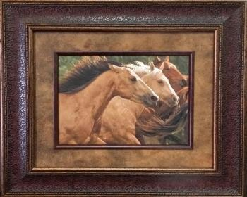 Picture King Running Mustangs Framed Art-Picture King-Sleeping Giant