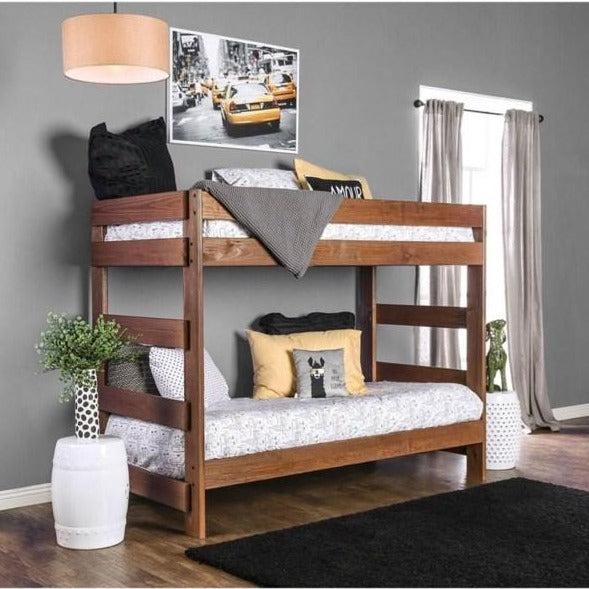 Furniture of America Arlette Twin/Twin Bunk Bed-Furniture of America-Sleeping Giant
