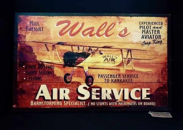 Red Horse Wall's Air Service Sign-Red Horse-Sleeping Giant