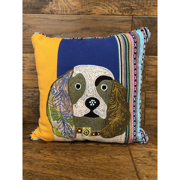 Kalalou Beagle Hand Stitched Pillow-Kalalou-Sleeping Giant