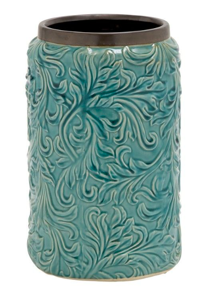UMA Turquoise Floral Vase Collection-UMA-Sleeping Giant