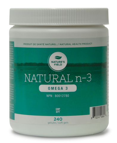 Natural n-3, oméga 3, Nature's filed, 240 gélules