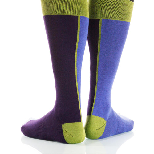 Midnight Chiaroscuro Socks; Men's or Women's Supima Cotton Blue XOAB