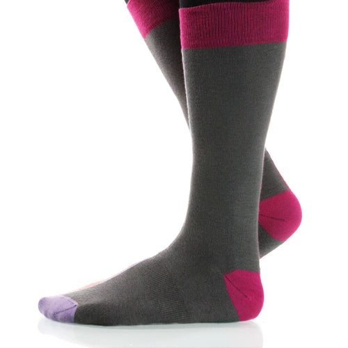 Paprika Chiaroscuro Socks; Men's or Women's Supima Cotton Orange XOAB