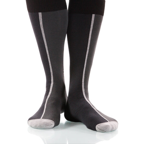 Slate Chiaroscuro Socks; Men's or Women's Supima Cotton - Gray - XOAB