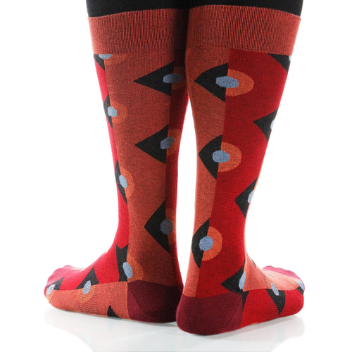 Red Deco Socks; Men's or Women's Supima Cotton - Red - XOAB