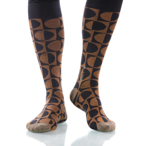 Hazelnut Eclipse Socks; Men's or Women's Supima Cotton Brown XOAB