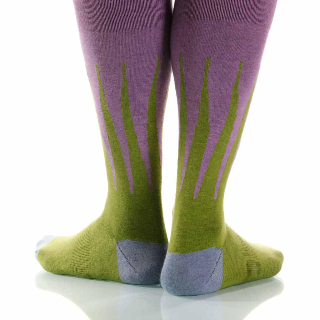 Spring Harlequin Socks; Men's or Women's Supima Cotton Green XOAB