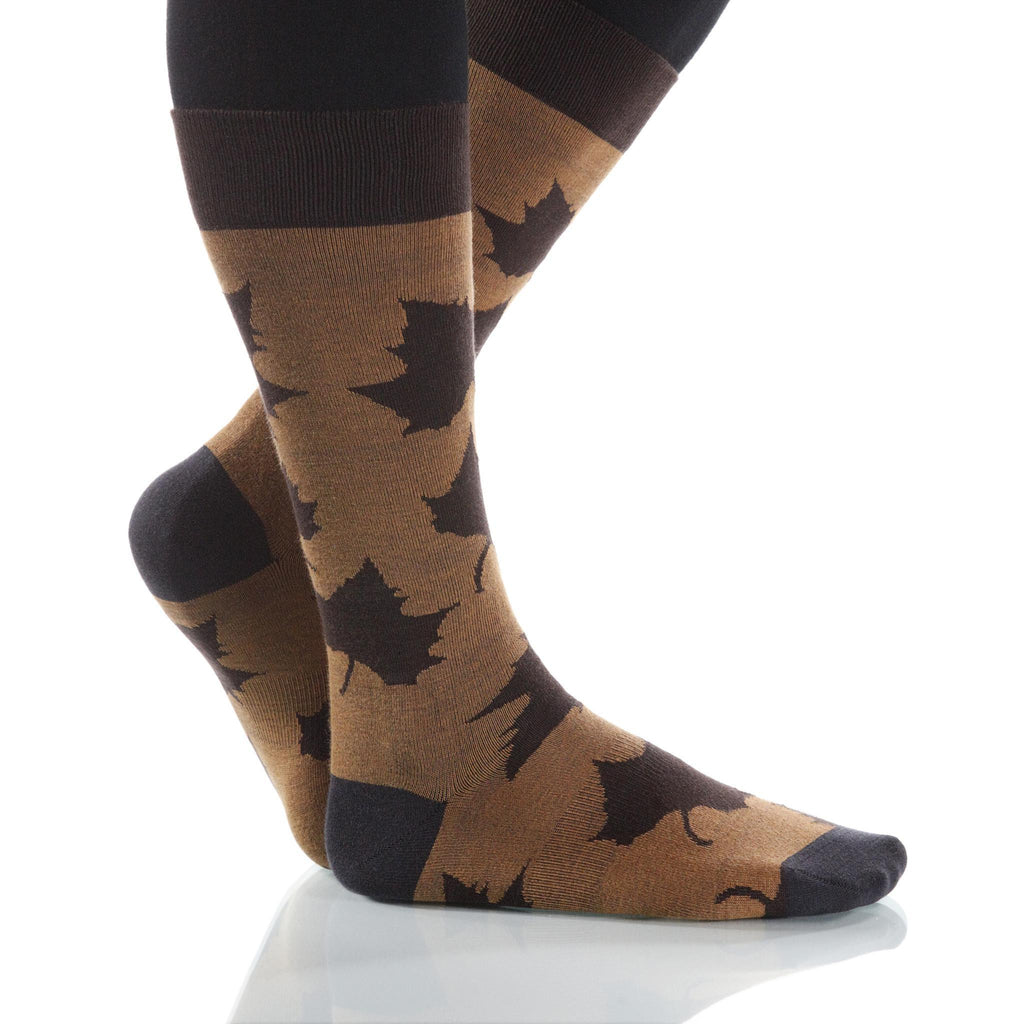 Hazelnut Maple Socks; Men's or Women's Supima Cotton Tan/Brown XOAB