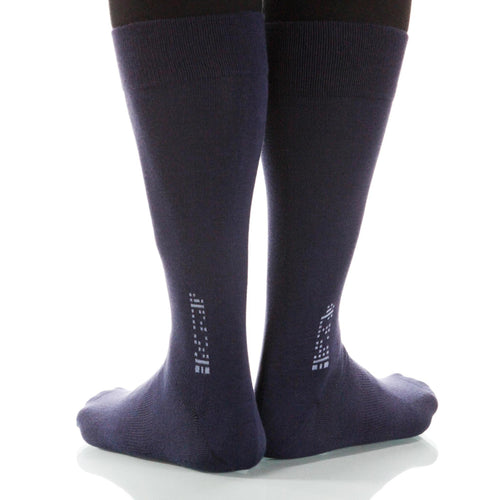Charcoal Solid Socks; Men's or Women's Merino Wool - Gray - XOAB