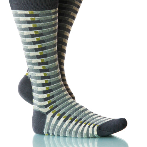 Mist Singapore Socks; Men's or Women's Merino Wool - Gray - XOAB