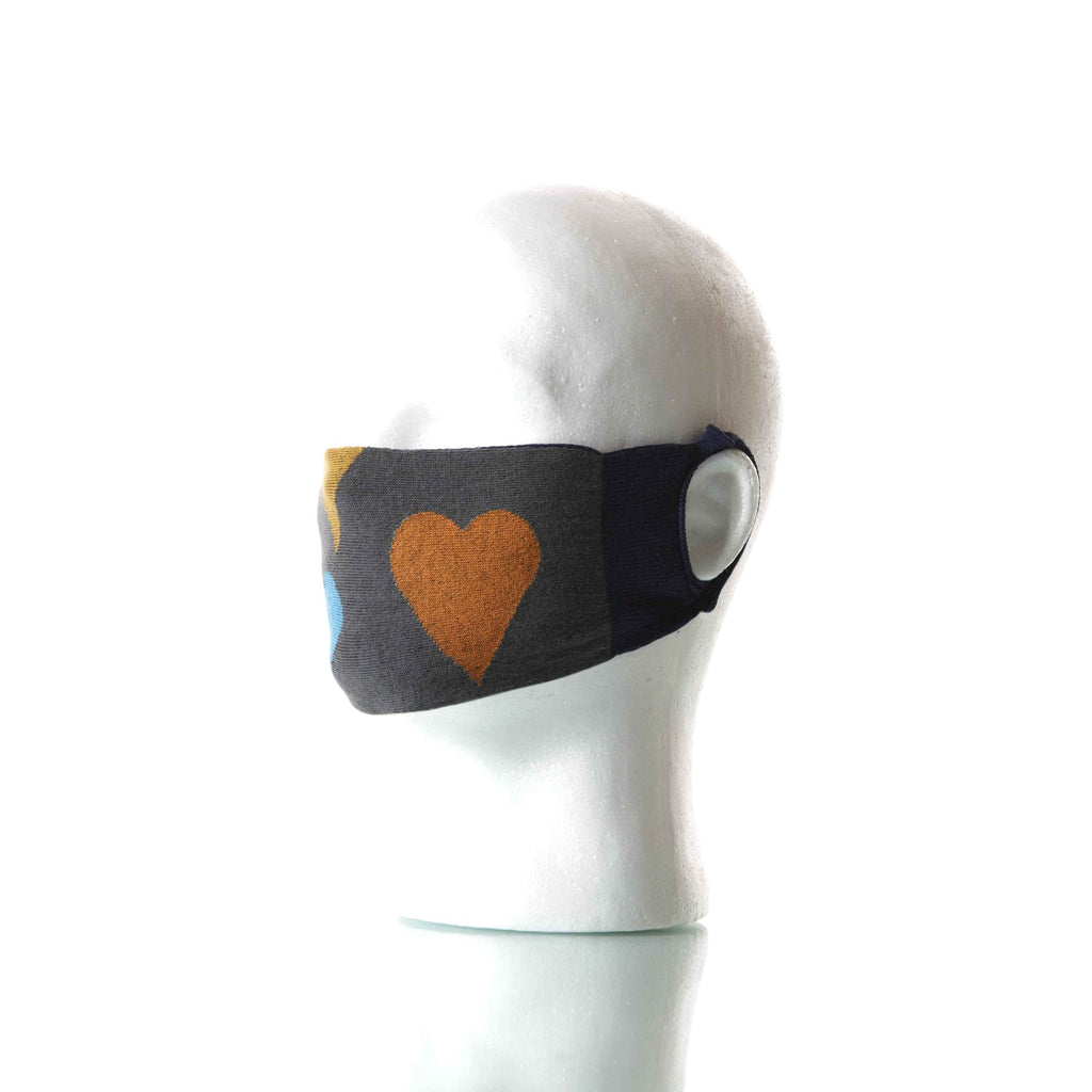 Black/Gray Big Love Mask