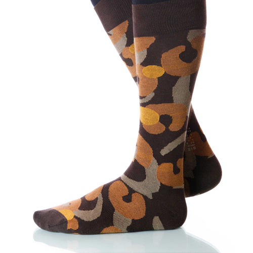 Desert Biome Socks; Men's or Women's Supima Cotton - Brown - XOAB
