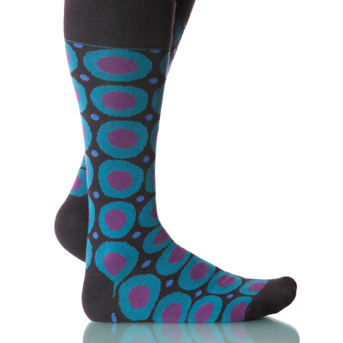 Jules Verne Calamaro Socks; Men's or Women's Merino Wool Teal XOAB