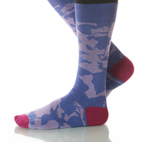 Periwinkle Canopy Socks; Men's or Women's Supima Cotton Blue XOAB