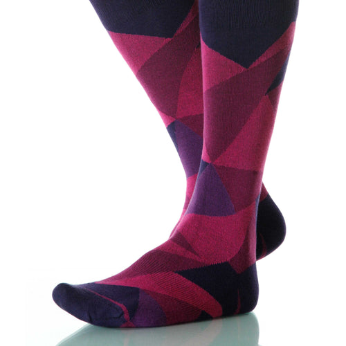 Rose Diamond Socks; Men's or Women's Supima Cotton - Violet - XOAB