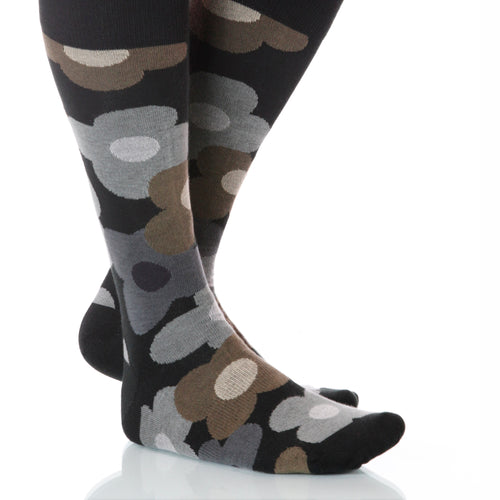 Nightshade Flora Socks; Men's or Women's Supima Cotton - Gray - XOAB
