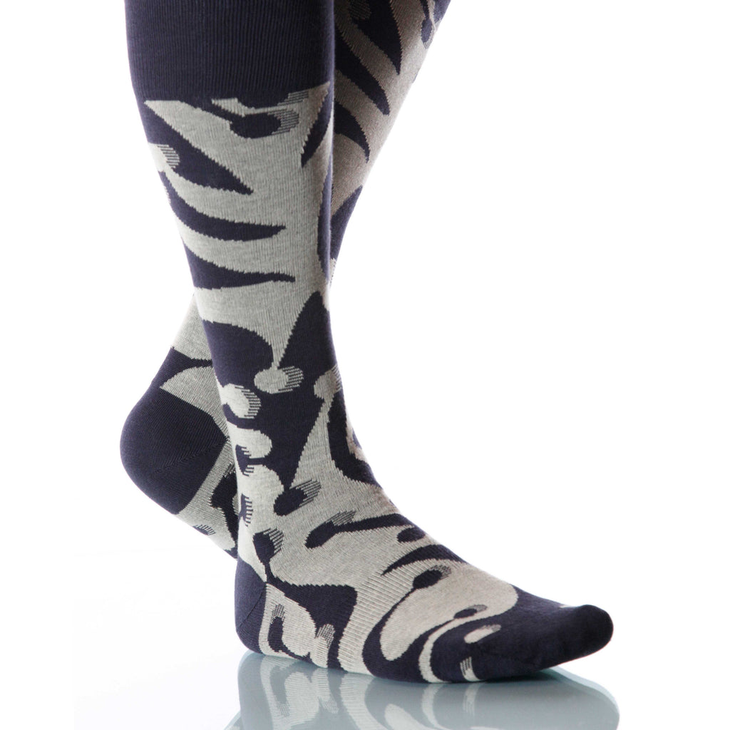 Tuxedo Jesterville Socks; Men's or Women's Supima Cotton Gray XOAB