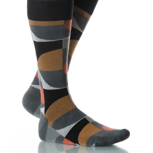 Dry Martini Socks; Men's or Women's Merino Wool - Brown/Gray - XOAB
