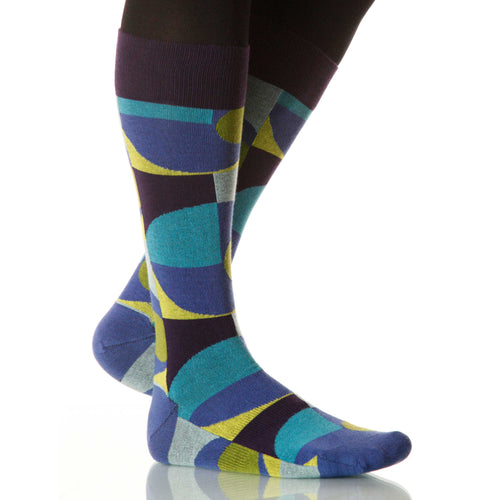Wet Martini Socks; Men's or Women's Merino Wool - Blue - XOAB