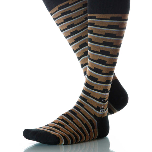 Earth Mesa Socks; Men's or Women's Supima Cotton - Brown - XOAB