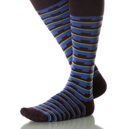 Sky Mesa Socks; Men's or Women's Supima Cotton - Blue - XOAB