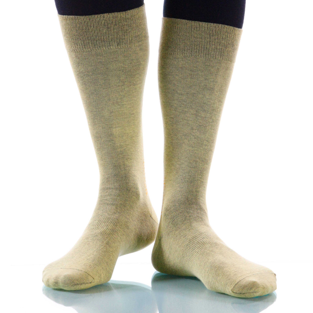 Naples Solid Socks; Men's or Women's Supima Cotton - Yellow - XOAB