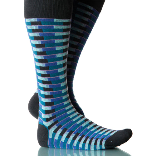 Ocean Singapore Socks; Men's or Women's Merino Wool - Blue - XOAB