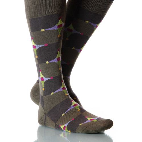Taupe Stardust Socks; Men's or Women's Merino Wool - Brown - XOAB