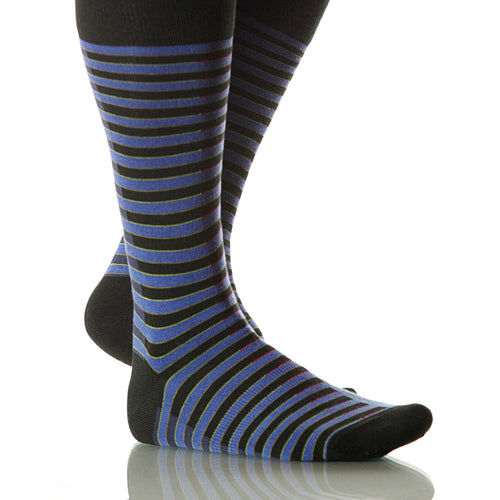 Royal Blue Venetian Socks; Men's or Women's Merino Wool - Blue - XOAB